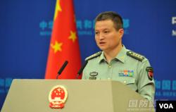 中国国防部发言人杨宇军2016年9月29日主持例行记者会 (中国国防部网站)