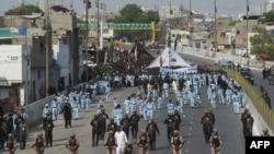 کراچی میں یوم عاشور کا جلوس مقررہ راستے پر گامزن