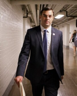 Rep. Justin Amash, R-Mich., shown on his way to vote on amendment to end NSA program, July 24, 2013.