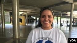 Gabriela Montero, estudiante venezolana. Foto: Carolina Alcalde. Nov. 14 de 2019.