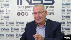 Amos Yadlin, executive director of Tel Aviv University's Institute for National Security Studies and former chief of Israeli military intelligence, speaks to VOA Persian in Tel Aviv on October 9, 2018.