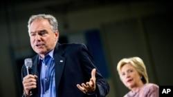 Tim Kaine e Hillary Clinton