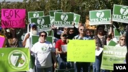 2016年10月28日,支持者在小石城州最高法院外,支持該州選票上有關醫用大麻問題的第七項選舉議題-允許病人在某種環境下可獲得或者種植大麻,用以緩解他們所患的病症。