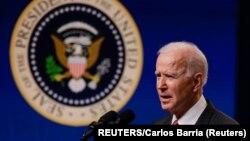 Američki predsednik Džozef Bajden tokom govora u Beloj kući o situaciji u Mjanmaru (Foto: REUTERS/Carlos Barria)