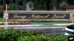 Znak ma ulazu u Trampovo letovalište i golf klub u Doralu u blizini Majamija