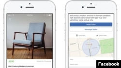 Facebook recently launched Marketplace, which allows people to locally buy and sell things. (Facebook)
