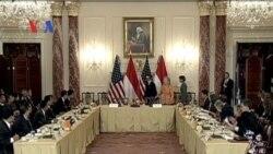 Pertemuan Menlu Marty Natalegawa dan Hillary Clinton - Liputan VOA