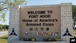 L'entrée de la base militaire de Fort Hood, au Texas