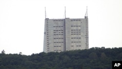 Радиолокационная станция в Габале, Азербайджан