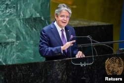 El presidente de Ecuador, Guillermo Lasso, habla a líderes del mundo en la recién teminada 76 Asamblea General de la ONU.
