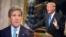 លោក John Kerry (ឆ្វេង) អតីតរដ្ឋមន្ត្រីការបរទេសអាមេរិក និង លោក ដូណាល់ ត្រាំ ប្រធានាធិបតីសហរដ្ឋអាមេរិក។