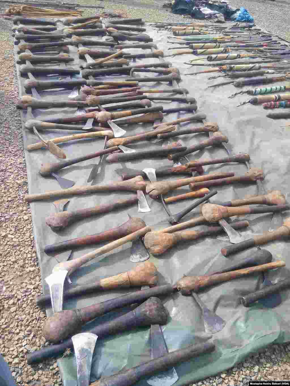 Makaman Da Sojoji Suka Kama A Jihar Niger