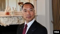 流亡美国的中国富豪郭文贵在位于纽约第五大道的住所内