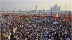 راه پیمایی ده ها هزار تن از جمله رهبران آن کشور به مناسبت سالروز مرگ بی نظیر بوتو، نخست وزیر سابق پاکستان