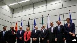 Los actores del acuerdo final posan para una foto histórica en Viena.