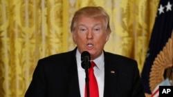 Le président Donald Trump lors d'un point de presse à la Maison Blanche, Washington 16 février 2017.