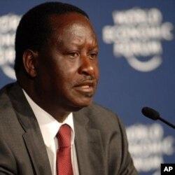 Le Premier ministre Raila Odinga