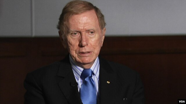 Retired Australian judge Michael Kirby, Chairman of the U.N.-mandated Commission of Inquiry, Oct 31, 2013.