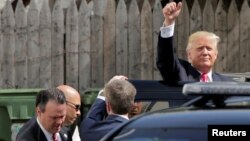 Verovatni republikanskik predsednički kandidat, Donald Tramp. Vašington, 7. jul 2016.