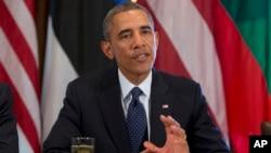 바락 오바마 미국 대통령이 30일 백악관에서 시리아 사태에 대한 입장을 밝히고 있다.