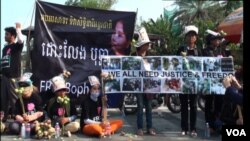 Cambodia Boengkak protesters freedom of speech, SM video pkg