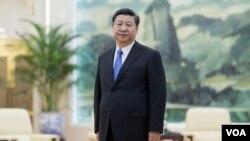 习近平在北京人民大会堂,在会见俄罗斯高官之前(2016年3月15日)
