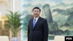 Presiden China Xi Jinping di Gedung Rakyat di Beijing (25/3).
