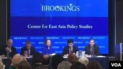22일 워싱턴 브루킹스 연구소에서 '미일 동맹과 억제 문제'를 주제로 토론회가 열렸다.