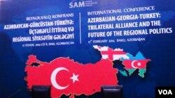 """""""Azərbaycan-Gürcüstan-Türkiyə: üçtərəfli ittifaq və regional siyasətin gələcəyi"""" mövzusunda konfrans"""