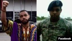 图为达拉斯枪击事件嫌疑人约翰逊发布在脸书上的照片。没有注明日期。
