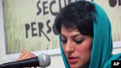 Shiva Nazar Ahari; an Iranian journalist, blogger and founding member of the Committee of Human Rights Reporters.