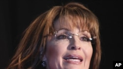 Former Alaska Gov. Sarah Palin speaks in Lakewood, Colorado (File Photo - May 2, 2011)