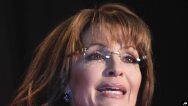 Former Alaska Gov. Sarah Palin speaks in Lakewood, Colorado (File Photo - May 2, 2011)