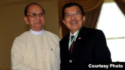 Jusuf Kalla dan Presiden Burma U Thein Shein