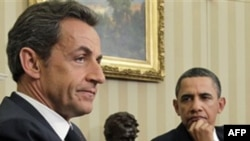 Barack Obama ve Nicolas Sarkozy Oval ofisteki görüşmede