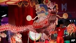 10일 홍콩의 설 축하 행진