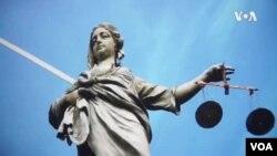 Ilustracija: Justicija, rimska boginja pavde, smbol pravosuđa (Autor grafike: Glas Amerike)