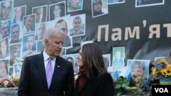 ABŞ-ın vitse-prezidenti Co Bayden və jurnalist Myroslava Gongadze