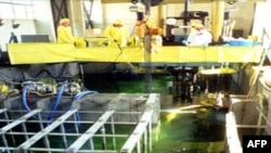 Các thanh nhiên liệu hạt nhân đã dùng tại cơ sở hạt nhân Yonbyon ở Bắc Triều Tiên