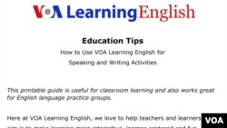 How to Use VOA Learning English for Speaking, Writing