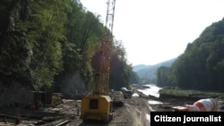 Строительство дороги Адлер-Красная поляна