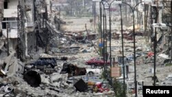 내전으로 폐허가 된 시리아 시가지 모습 (자료사진 )