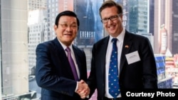 Alexander Feldman, president of US-ASEAN Business Council, co-hosted a business dialogue with Vietnamese President Truong Tan Sang and the Vietnamese business delegation from VCCI that accompanied him to the United Nations General Assembly meetings. (Courtesy Photo)