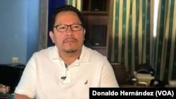 Miguel Mora, director de noticias del canal nicaraguense 100% Noticias.