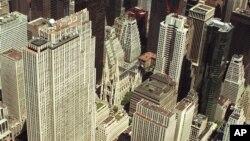 Vue aérienne de New York.