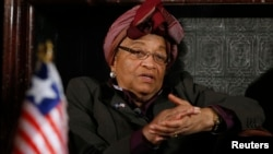 FILE - Liberia President Ellen Johnson Sirleaf.