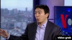 華裔美國總統參選人楊安澤。(視頻截圖)