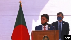 ဘဂၤလားေဒ့ရွ္ နိုင္ငံျခားေရး၀န္ၾကီး AK Abdul Momen (ဓာတ္ပံု - Rehman Asad / AFP)