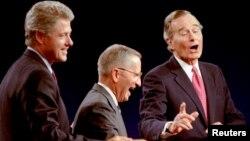 1992 yılında Başkan G.W. Bush, Demokrat aday Bill Clinton ve Reform Partisi adayı Ross Perot ile karşı karşıya geldi.