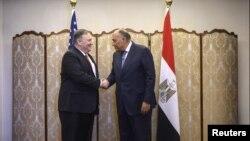 دیدار وزیران خارجه آمریکا و مصر در قاهره در دی ماه گذشته، عکس از آرشیو